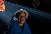 Indian woman Mirian Cayambe<br /> Pulingue San Pablo community<br /> Chimborazo Province<br /> Andes<br /> ECUADOR, South America