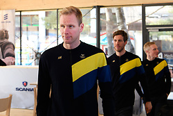 February 9, 2018 - Pyeongchang, SOUTH KOREA - 180209 Daniel Richardsson, Marcus Hellner and Jens Burman of Sweden during a press conference with the Swedish cross country skiing skiathlon team ahead of the 2018 Winter Olympics on February 9, 2018 in Pyeongchang..Photo: Carl Sandin / BILDBYRN / kod CS / 57999_278 (Credit Image: © Carl Sandin/Bildbyran via ZUMA Press)