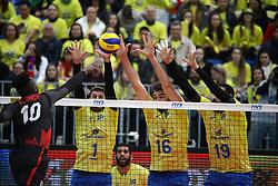 July 4, 2017 - Brasil e Canadá fazem a partida de estreia da fase final da Liga Mundial de Vôlei, na Arena da Baixada em Curitiba. (Credit Image: © Guilherme Artigas/Fotoarena via ZUMA Press)