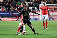 Milton Keynes Dons midfielder Samir Carruthers (7) holds off tackle from Charlton Athletic striker Ademola Lookman (7) during the The FA Cup match between Charlton Athletic and Milton Keynes Dons at The Valley, London, England on 3 December 2016. Photo by Matthew Redman.