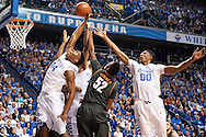 Dakari Johnson. Marcus Lee.<br /> <br /> The University of Kentucky men's basketball team beat Texas 63-51in Lexington's Rupp Arena on Friday, December 5, 2014.<br /> <br /> Photo by Elliott Hess   UK Athletics