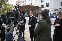 © Licensed to London News Pictures. 06/11/2019. London, UK. Assistant Comissioner Nick Ephgrave responds to media outside Scotland Yard after the High Court ruled as unlawful a police ban on Extinction Rebellion protests in London last month. Photo credit: Guilhem Baker/LNP