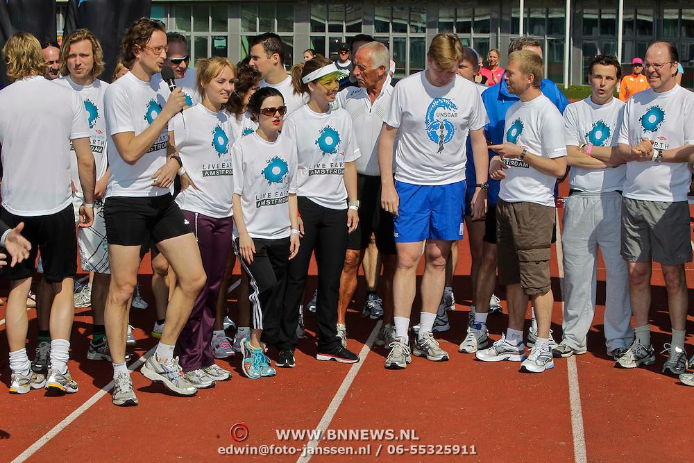 NLD/Amsterdam/20100418 - Run For Water: Live Earth 2010, Katarina Justic, Bea van Erven Dorens, Anthonie Kamerling, prins Willem - Alexander