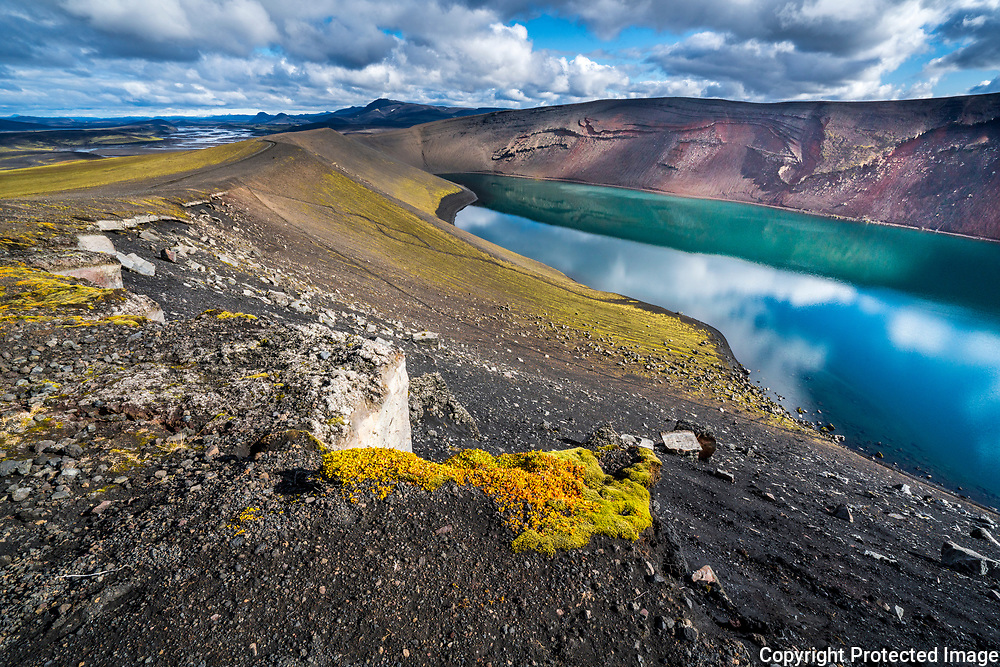 The crater Ljótipollur, formed by a magmatic eruption in the southern highlands