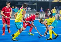 BHUBANESWAR, INDIA - Michael Hoare (Eng)   , England v Australia for the bronze medal during the Odisha World Cup Hockey for men  in the Kalinga Stadion.   COPYRIGHT KOEN SUYK