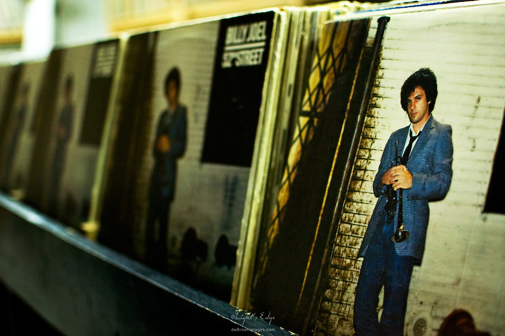 Billy Joel's 52nd Street goes on forever in the front of album bins at The Bus Stop Music Cafe in Pitman, NJ.