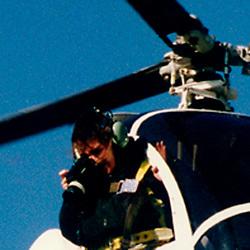 Julia Robertson, aerial photographer shooting a site