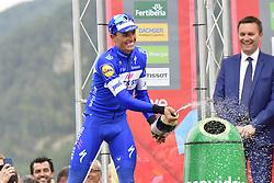 September 15, 2018 - Sant Julia De Loria, SPAIN - Spanish Enric Mas of Quick-Step Floors celebrates on the podium after winning the 20th stage of the 'Vuelta a Espana', Tour of Spain cycling race, 97,3km from Escaldes-Engordany to Sant-Julia de Loria, Spain, Saturday 15 September 2018. ..BELGA PHOTO YUZURU SUNADA FRANCE OUT. (Credit Image: © Yuzuru Sunada/Belga via ZUMA Press)