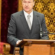 NLD/Den Haag/20171221 - Koning bij sluitingsceremonie Joegoslavie tribunaal, John Hocking