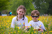 NO FEE PICTURES<br /> 28/5/16 Alison Traynor, age 9 and her brother Oscar, age 4 at the Irish Kidney Association's Run For Life in support of Organ Donation at Corkagh Park in Dublin. Pictures:Arthur Carron