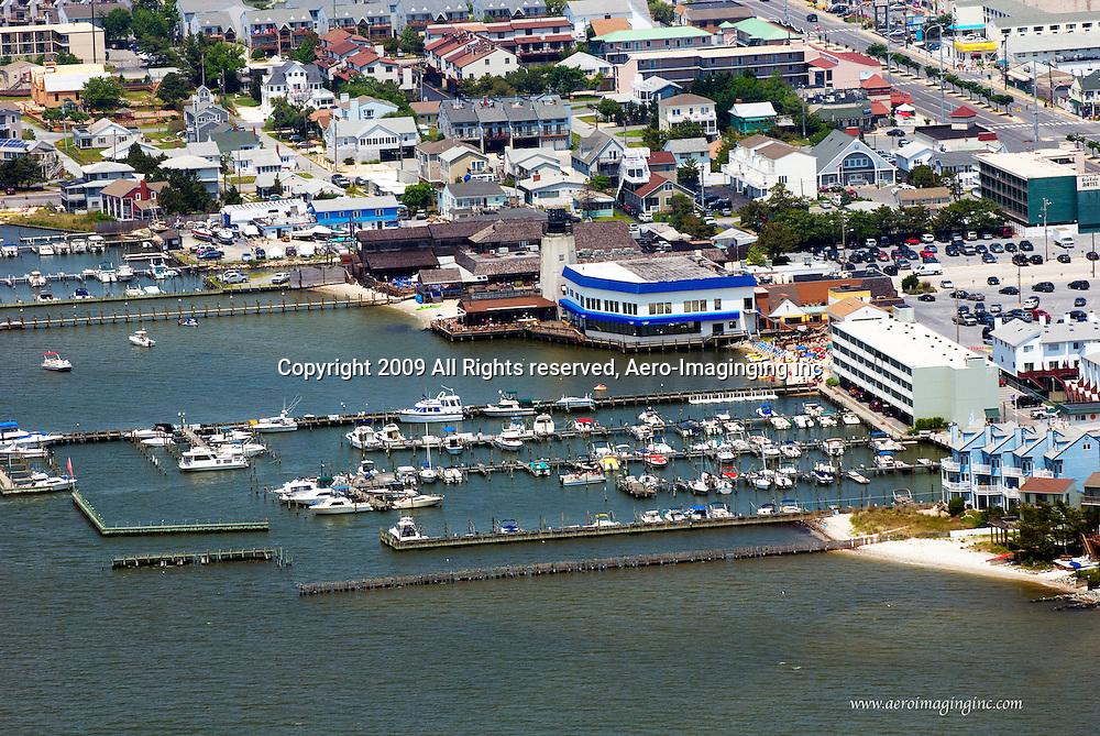 Aerial view of Ruddertown Dewey Beach delaware