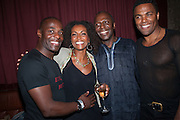 Paterson Joseph, Adjoa Andoh, Cyril Nri; Ray Fearon , West End opening of RSC production of Julius Caesar at the Noel Coward Theatre on Saint Martin's Lane. After-party  at Salvador and Amanda, Gt. Newport St. London. 15 August 2012.