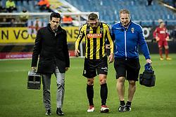 Guram Kashia of Vitesse injury during the Dutch Eredivisie match between Vitesse Arnhem and sbv Excelsior Rotterdam at Gelredome on February 17, 2018 in Arnhem, The Netherlands