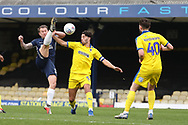 Southend United attacker Simon Cox (10) battles for possession with AFC Wimbledon defender Will Nightingale (5) during the EFL Sky Bet League 1 match between Southend United and AFC Wimbledon at Roots Hall, Southend, England on 16 March 2019.
