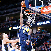 11 November 2017: Denver Nuggets guard Will Barton (5) goes for the reverse layup during the Denver Nuggets 125-107 victory over the Orlando Magic, at the Pepsi Center, Denver, Colorado, USA.