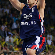 Efes Pilsen's Igor RAKOCEVIC during their Turkish Basketball league Play Off Final third leg match Fenerbahce Ulker between Efes Pilsen at the Abdi Ipekci Arena in Istanbul Turkey on Tuesday 25 May 2010. Photo by Aykut AKICI/TURKPIX