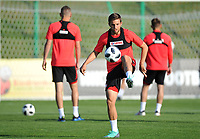 ARLAMOW, POLAND - MAY 31: Bartosz Bereszynski during a training session of the Polish national team at Arlamow Hotel during the second phase of preparation for the 2018 FIFA World Cup Russia on May 31, 2018 in Arlamow, Poland. (MB Media)