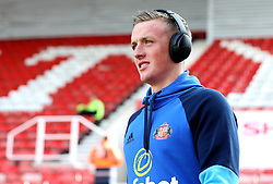 Jordan Pickford of Sunderland arrives at The Bet365 Stadium for the Premier League fixture with Stoke City - Mandatory by-line: Robbie Stephenson/JMP - 15/10/2016 - FOOTBALL - Bet365 Stadium - Stoke-on-Trent, England - Stoke City v Sunderland - Premier League