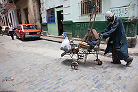 Man wandering the streets of Havana.