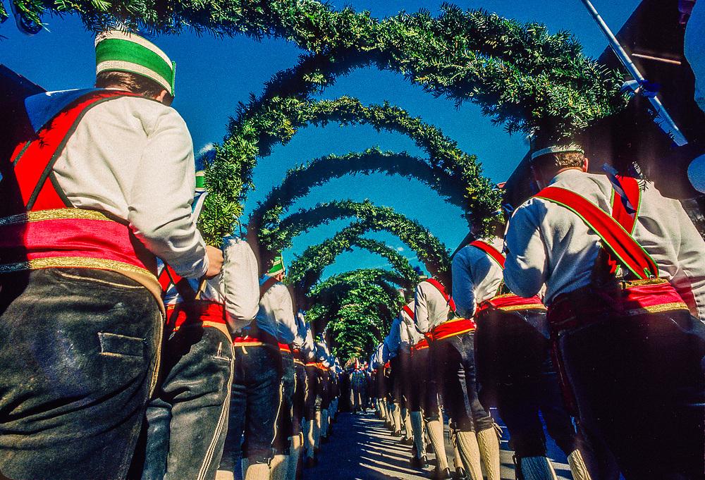 Schaffler dance (Barrel-makers dance), Fasching (Winter Carnival), Garmisch-Partenkirchen, Bavaria, Germany.