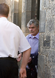 Peter Tobin leaving after the body of Vicky Hamilton was found, at Linlithgow court.<br /> ©2007 Michael Schofield. All Rights Reserved.