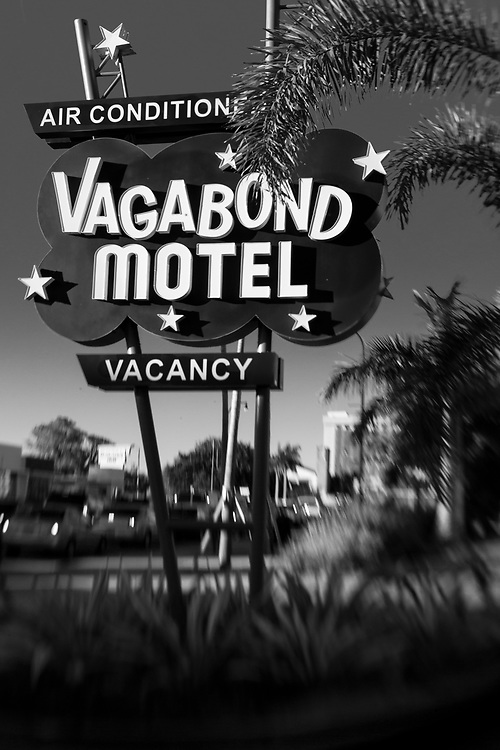 This replica of the Vagabond's original 1953 sign was made for the newly renovated motel some 60 years later.
