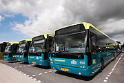Streekbussen van Connexxion bij de remise in Woerden.<br /> <br /> Busses of Connexxion at the depot in Woerden.