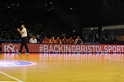 Bristol Sport advert at the Worcester Arena - Photo mandatory by-line: Dougie Allward/JMP - Mobile: 07966 386802 - 31/10/2014 - SPORT - Football - Worcester - Worcester Arena - Worcester Wolves v Bristol Flyers - British Basketball League Cup