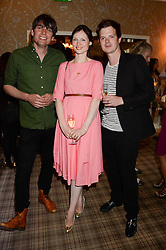 Left to right, ALEX JAMES, SOPHIE ELLIS-BEXTOR and RICHARD JONES at the Blue Monday Cheese Launch presented by Alex James and held at The Cadogan Hotel, Sloane street, London on 11th June 2013.