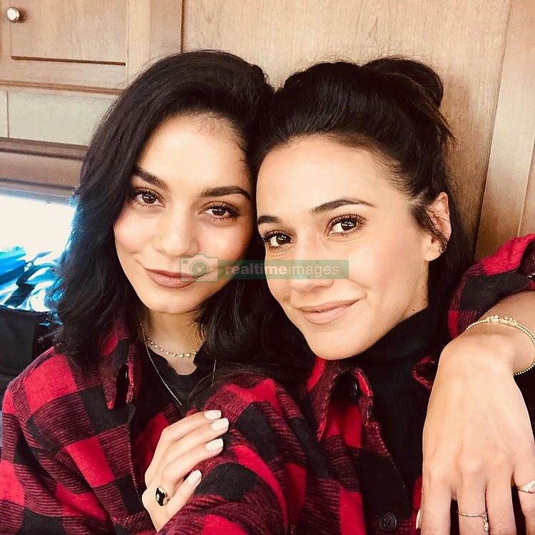 """Vanessa Hudgens releases a photo on Instagram with the following caption: """"Hey mister, she\u2019s my sister \ud83d\ude09\ud83d\ude1d @echriqui"""". Photo Credit: Instagram *** No USA Distribution *** For Editorial Use Only *** Not to be Published in Books or Photo Books ***  Please note: Fees charged by the agency are for the agency's services only, and do not, nor are they intended to, convey to the user any ownership of Copyright or License in the material. The agency does not claim any ownership including but not limited to Copyright or License in the attached material. By publishing this material you expressly agree to indemnify and to hold the agency and its directors, shareholders and employees harmless from any loss, claims, damages, demands, expenses (including legal fees), or any causes of action or allegation against the agency arising out of or connected in any way with publication of the material."""