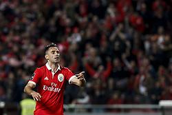 January 20, 2018 - Lisbon, Portugal - Benfica's forward Jonas celebrates his second goal  during Primeira Liga 2017/18 match between SL Benfica vs GD Chaves, in Lisbon, on January 20, 2018. (Credit Image: © Carlos Palma/NurPhoto via ZUMA Press)