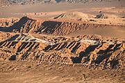Aerial view of desert with rocks, Atacama Desert, Chile