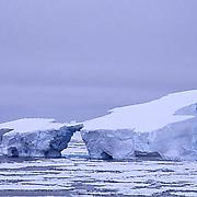 Antarctica, Icebergs in Weddell Sea among broken pack ice.