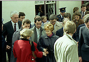 Raisa Gorbachev at Bunratty Folk Park.  (R99)..1989..02.04.1989..04.02.1989..2nd April 1989..While her husband, Russian President Mikhail Gorbachev,was working on state matters ,Mrs Gorbachev was taken on a tour of Bunratty Folk Park in Co Clare. The Gorbachevs were in Ireland as part of a tour of European Capitals...Image shows Mrs Gorbachev in the middle of the crowd as she is given the guided tour of Bunratty Folk Park.