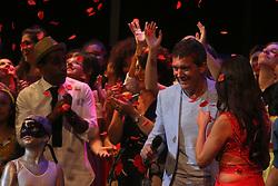 June 27, 2017 - June 27, 2017 (Málaga) actor Antonio Banderas has come to receive the award of the Higher School of Performing Arts in Malaga today at the Cervantes theater in Malaga (Credit Image: © Fotos Lorenzo Carnero via ZUMA Wire)