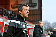 Swindon Town manager Phil Brown before the EFL Sky Bet League 2 match between Swindon Town and Yeovil Town at the County Ground, Swindon, England on 10 April 2018. Picture by Graham Hunt.
