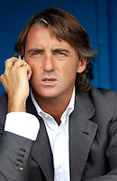 Photo: Daniel Hambury.<br /> Portsmouth v Inter Milan. Pre Season Friendly.<br /> 31/07/2005.<br /> Inter's head coach Roberto Mancini.
