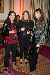 Left to right, KARTIKA SEEGERS daughter of the late President Sukarno of Indonesia, ROBERTA DRUMMOND and CARLA MARIA ORSI CARBONE at a reception and talk in honour of the late Loulou de La Falaise hosted by CLIC Sargent held at The Ritz, Piccadilly, London on 2nd November 2015.