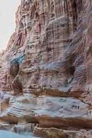 the siq path in Nabatean Petra Jordan middle east