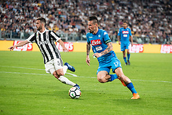 April 22, 2018 - Turin, Piedmont/Turin, Italy - Marek Hamsik durig the Serie A match Juventus FC vs Napoli. Napoli won 0-1 at Allianz Stadium, in Turin, Italy 22nd april 2018 (Credit Image: © Alberto Gandolfo/Pacific Press via ZUMA Wire)