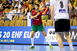 Diogo Silva of Portugal during handball match between National teams of Germany and Portugal in game for Third place of 2018 EHF U20 Men's European Championship, on July 29, 2018 in Arena Zlatorog, Celje, Slovenia. Photo by Urban Urbanc / Sportida