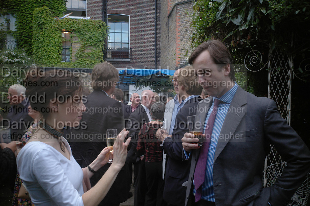 Mathew Leeming. Spectator party. Doughty St. London. 28 July 2005. ONE TIME USE ONLY - DO NOT ARCHIVE  © Copyright Photograph by Dafydd Jones 66 Stockwell Park Rd. London SW9 0DA Tel 020 7733 0108 www.dafjones.com
