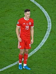 CARDIFF, WALES - Friday, September 6, 2019: Wales' Tom Lawrence during the UEFA Euro 2020 Qualifying Group E match between Wales and Azerbaijan at the Cardiff City Stadium. (Pic by Paul Greenwood/Propaganda)