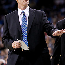 November 17, 2010; New Orleans, LA, USA; Dallas Mavericks head coach Rick Carlisle during the second half against the New Orleans Hornets at the New Orleans Arena. The Hornets defeated the Mavericks 99-97. Mandatory Credit: Derick E. Hingle