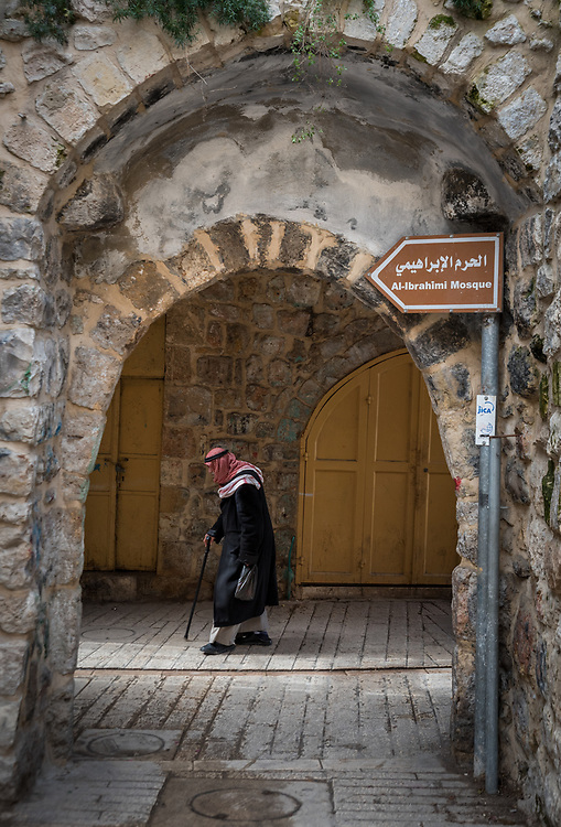 2 March 2020, Hebron: A man walks in the direction of Al-Ibrahimi Mosque in Hebron, West Bank.
