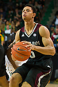 WACO, TX - DECEMBER 9: Jordan Green #5 of the Texas A&M Aggies pulls up for a jump shot against the Baylor Bears on December 9, 2014 at the Ferrell Center in Waco, Texas.  (Photo by Cooper Neill/Getty Images) *** Local Caption *** Jordan Green