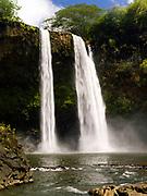 View of Wailua Falls, near Lihue, Kauai, Hawaii, USA
