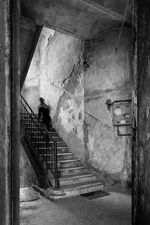 Woman on Stairs, Sarajevo, Bosnia & Herzegovina