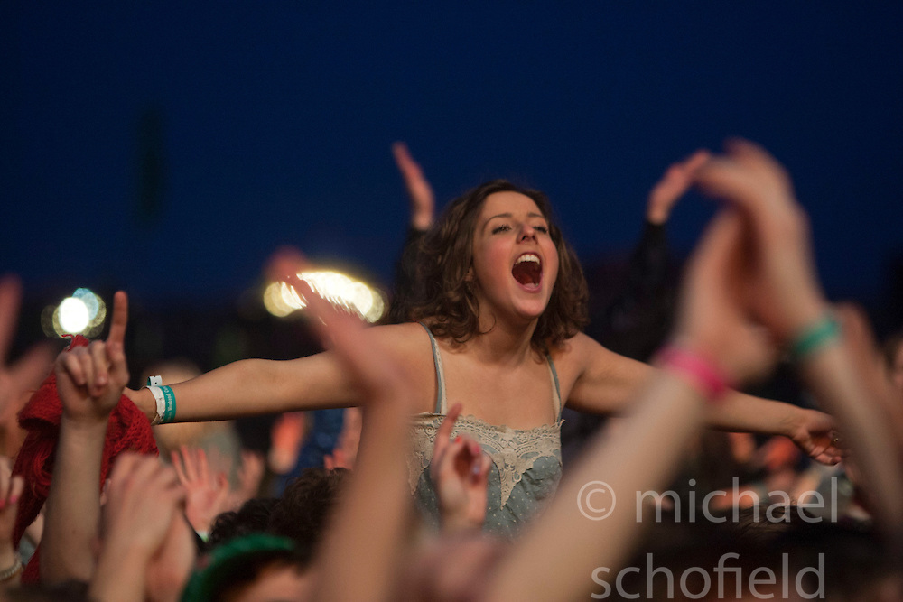 Mumford & Sons, headline the main stage on Friday night..Rockness 2012..©Michael Schofield..