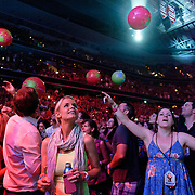 WASHINGTON, DC - July 9th, 2012 - The crowd at the Verizon Center in Washington, D.C. react as Coldplay performs. The band's props during the concert included confetti cannons and balloons. (Photo by Kyle Gustafson/For The Washington Post)